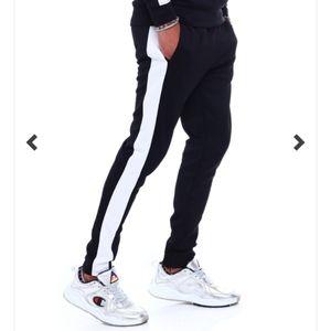 🆕⭐CSG. Champs Black white stripe  joggers